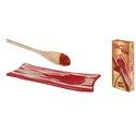 Ceramic Spoon Rest - Bacon