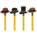Erasers - Pencil Hats Set Of 4