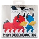Luggage Tags - Devil Duck 2pc Set