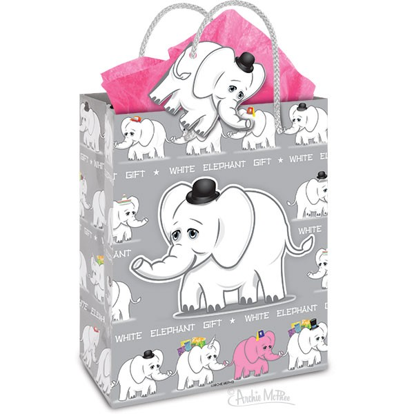 Gift Bag - White Elephant
