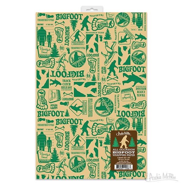 Gift Wrap - Bigfoot All Occasion