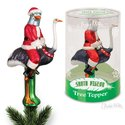 Ornament - Tree Topper - Santa Pigeon