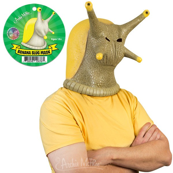 Head Mask - Banana Slug